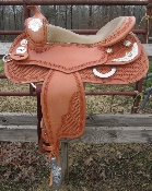 Saddle shown in Golden Light Brown