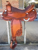 saddle shown in PECAN color